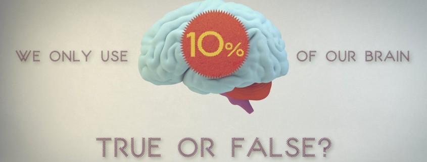 Beynimizin sadece %10'nunu kullanırız